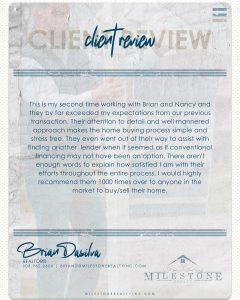 Brian DaSilva Review 2020.08.25